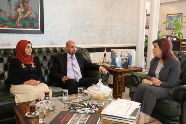 السفيرة السهيل تستقبل رئيس جمعية الأخوة والصداقة الفلسطينية العراقية