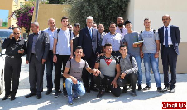 وزير التربية يتفقد مدرسة صناعية في قباطية ويواصل لقاءاته مع مديري المدارس