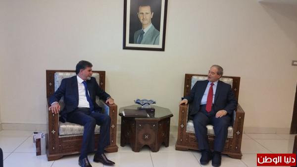 السفير عبد الهادي يلتقي الدكتور المقداد ويطلعه على آخر تطورات الأوضاع بفلسطين