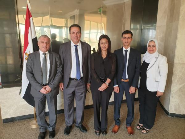 """دواس يبحث سبل تعزيز التعاون مع أمين عام """"اللجنة الوطنية المصرية"""