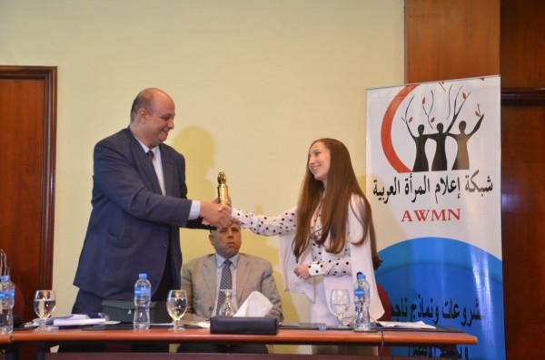 شبكة إعلام المرأة العربية تكرم الإعلامية المغربية المتميزة هدي نصر الدين