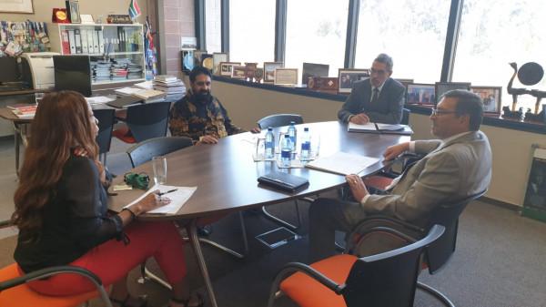 الدجاني يجتمع مع نائب مدير عام وزارة العلاقات الدولية والتعاون الجنوب افريقي