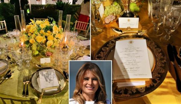شاهد كيف أعدت ميلانيا ترامب حديقة البيت الأبيض لوجبة العشاء رسمية؟