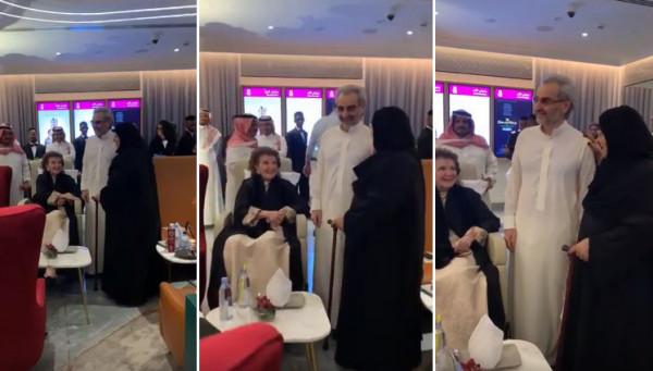 لأول مرة.. ظهور الأمير الوليد بن طلال مع والدته منى الصلح وخالته