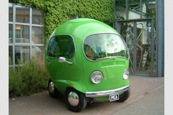 Pea.. سيارة صغيرة بتصميم غريب يشبه حبة البازلاء