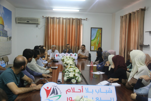 """فريق مبادرة """"سفينة الشباب"""" يلتقي وكيل وزارة العمل الفلسطينية"""