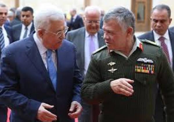 الرئيس عباس يبحث مُستجدات الأوضاع بالأراضي الفلسطينية مع نظيره الأردني