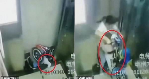 فيديو مروع .. مصعد يحتجز جسد رضيع فكيف تم إخراجه من الحديد والخرسانة؟