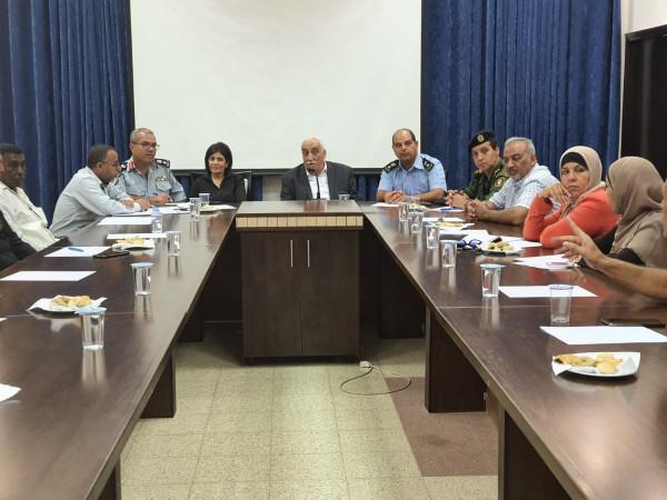 المحافظ ابو العسل يترأس اجتماع لجنة الطوارئ