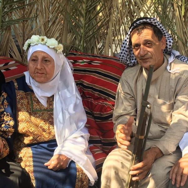 عقد قران لأكبر زوجين بفلسطين.. العروس تكبر العريس بـ (15 عاماً)