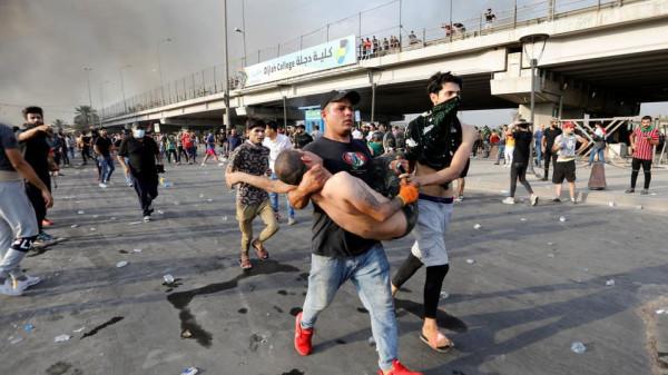 رويترز: ارتفاع عدد ضحايا الاحتجاجات في العراق إلى 44 قتيلا ومئات المصابين