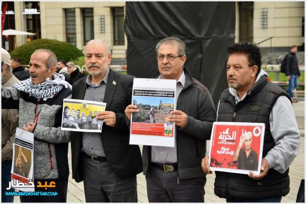 برلين: لجنة العمل الوطني الفلسطيني تنظم وقفة تضامنية مع الأسرى الفلسطينيين