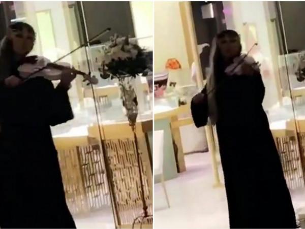 شاهد: فتاة تعزف على الكمان داخل أحد الأسواق بالسعودية وتشعل مواقع التواصل