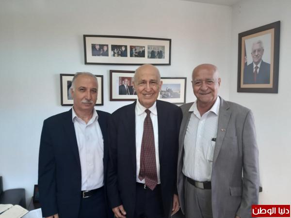 شعث يستقبل رئيس الجمعية العربية الفلسطينية في كندا
