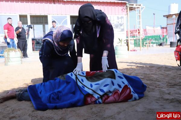غزة: مدرسة بحرية تخرج دورة بعنوان  الإسعاف البحري  على هيئة مناورة   دنيا الوطن