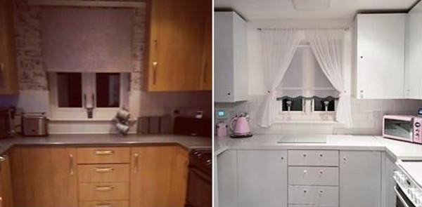 امرأة تجدد مطبخها بالكامل بسعر لا يصدق