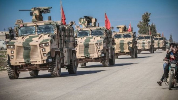 الجيش التركي يبدأ عملية بسوريا بقصف جوي على بلدة رأس العين الحدودية