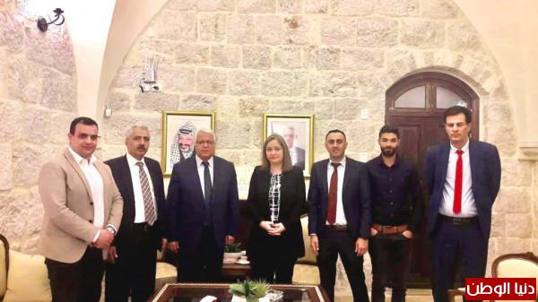 معايعة تستقبل كلا من رئيس جامعة بوليتكنك فلسطين ورئيس بلدية دورا