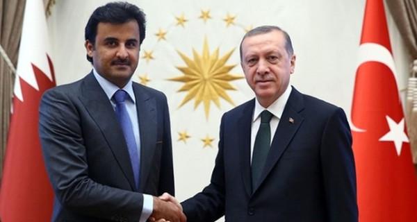 أمير قطر يبحث مع أردوغان تطورات الأحداث في سوريا