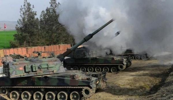 الجيش التركي يقصف مدينة القامشلي شمال شرق سوريا