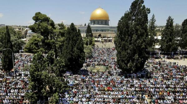 45 ألف مصلٍ يؤدون صلاة الجمعة في المسجد الأقصى  9998998305