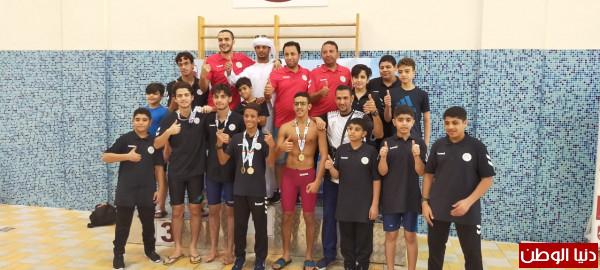 سباحو نادي مليحة الرياضي يحصلون على(11) ميدالية ملونة في كأس الامارات للسباحة