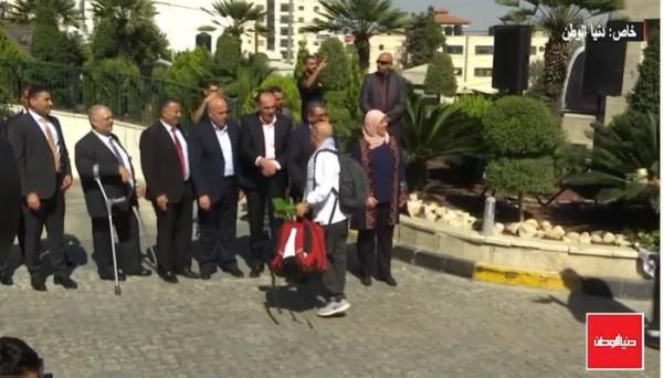 شاهد: جوال برفقة المنتخبين الفلسطيني والسعودي بتصفيات كأس العالم