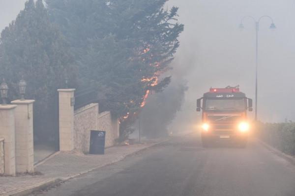 شاهد: حرائق في مناطق متفرقة من لبنان وعون يُطالب بفتح تحقيق