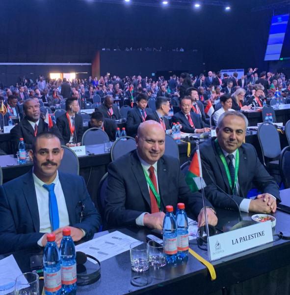 فلسطين تُشارك في اجتماعات الجمعية العامة لـ (إنتربول)