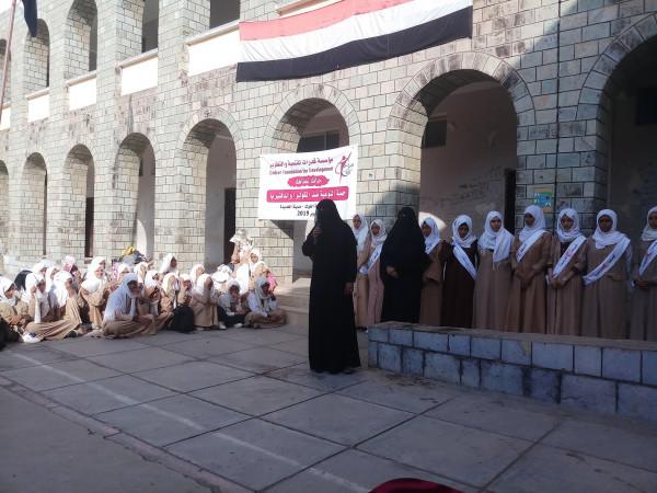 """""""قدرات"""" تنفذ حملة توعية حول مرض الكوليرا والدفتيريا بمدارس الحديدة غرب اليمن"""