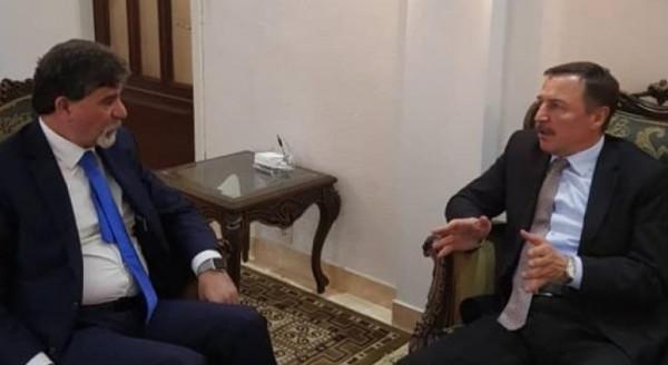 السفير عبدالهادي يطلع سفير روسيا على آخر تطورات الأوضاع بفلسطين