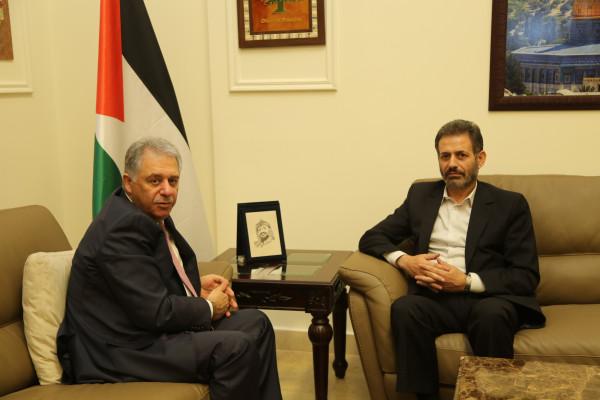 السفير دبور يلتقي ممثل الجهاد الإسلامي في لبنان