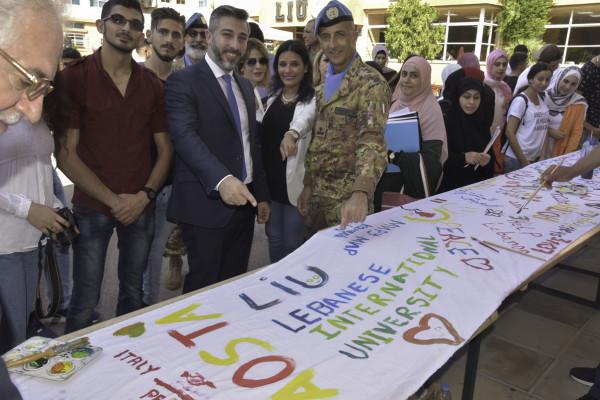يونيفيل الايطالية تشارك فيحفل افتتاح العام الدراسي للجامعة اللبنانية الدولية في صور