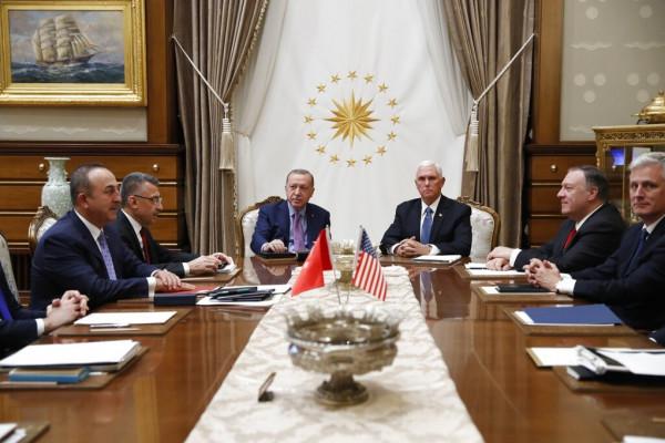أردوغان يرفض وقف إطلاق النار وأمريكا تلوح بعقوبات جديدة