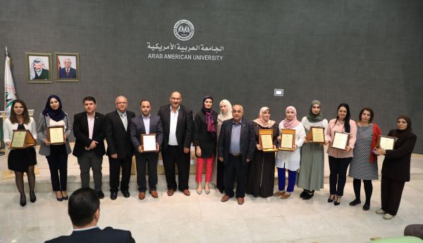 اختتام فعاليات المؤتمر السنوي لأبحاث طلبة كلية الدراسات العليا بالجامعة العربية الأمريكية