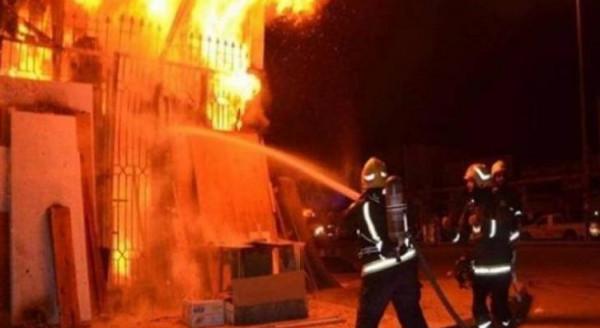 شاهد: إندلاع حريق هائل بمزرعة أبقار وأغنام جنوب نابلس