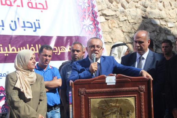 افتتاح المهرجان الفلسطيني للتراث والمأكولات الشعبيه في الخليل