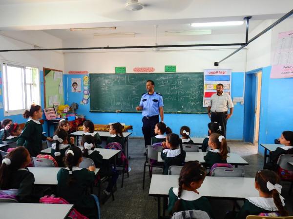 تنظيم محاضرات توعوية لطلبة مدرسة أم القرى الأساسية في غزة