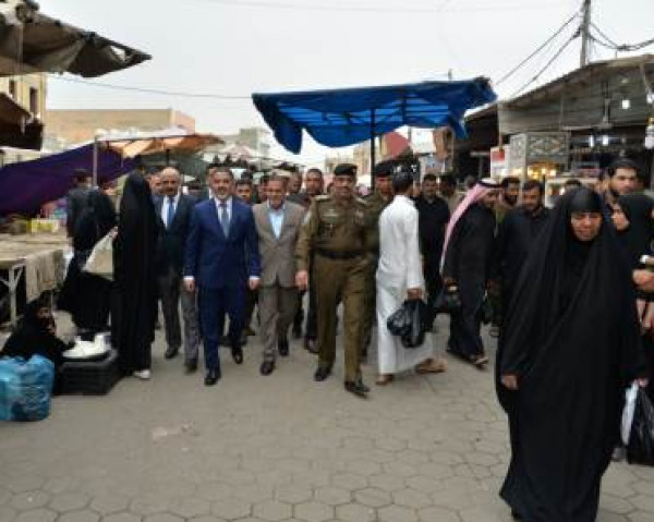 ممثل رئيس الوزراء يجري جولة تفقدية لمحافظة المثنى