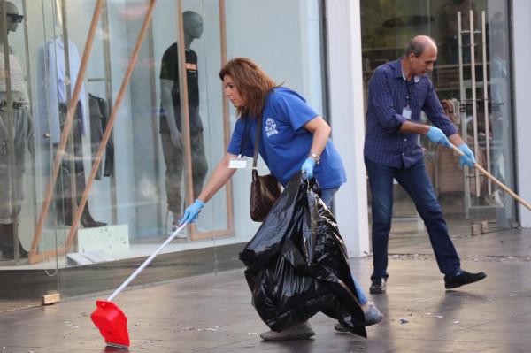 الإنجيلية في صيدا تقوم بحملة تنظيف عند تقاطع إيليا