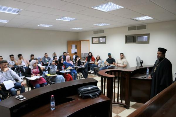 قسم القانون في الكلية العصرية الجامعية يستضيف الأب الأرشمندريت إلياس عواد