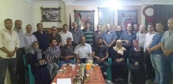 اللجنة الشعبية للاجئين بمخيم الشاطئ تستقبل وفدًا من حركة فتح
