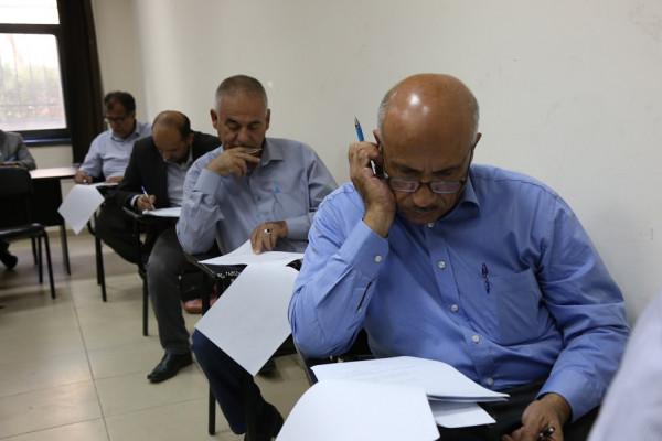 غرفة التحكيم الفلسطينية الدولية تعقد الامتحان التحريري لطالبي مزاولة مهنة التحكيم