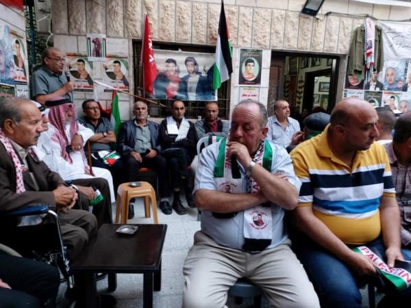 الشعبية تحيي الذكرى 29 لاستشهاد  أبو عكر في مخيم الدهيشة