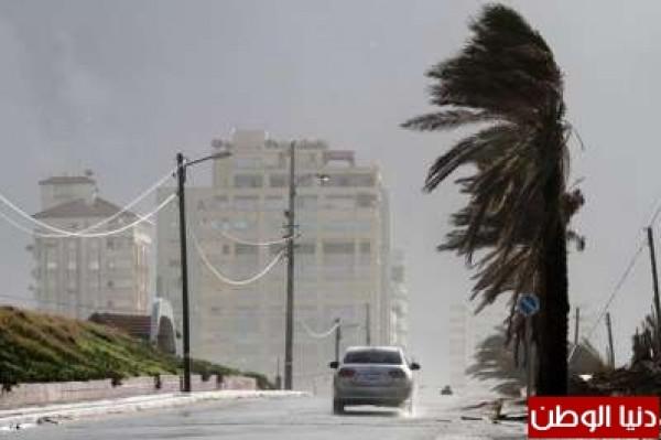 عاصفة (الوحش المداري) تصل فلسطين السبت وفيضانات عارمة وصواعق بغزة