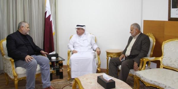 """العمادي لـ""""قادة الجهاد"""": قطر تقف على مسافة واحدة من جميع الفصائل الفلسطينية"""
