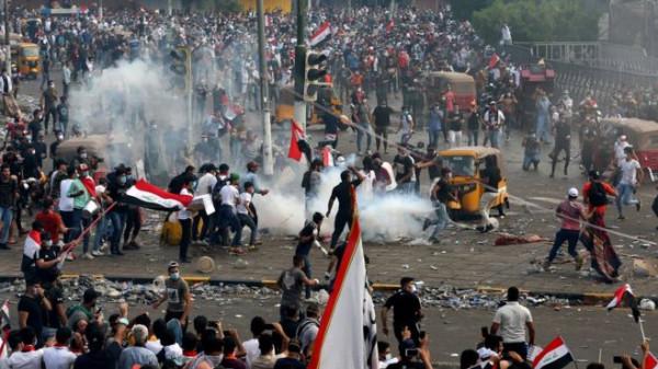 العراق: مقتل شخصين وإصابة 175 فى احتجاجات بغداد