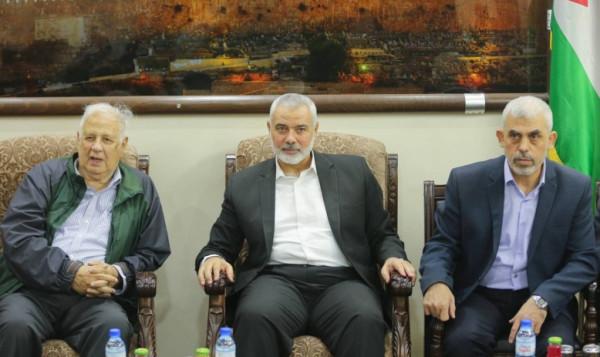 حنا ناصر يصل غزة عبر معبر (ايرز) للقاء قيادة حماس والفصائل