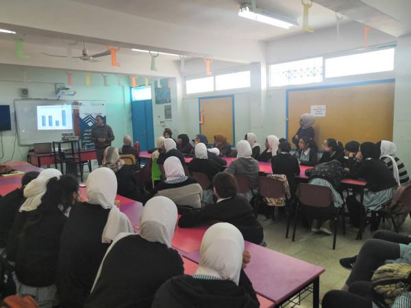 المركز الفلسطيني للاتصال والسياسات التنموية ينفذ ورشة تدريبية في مخيم العروب