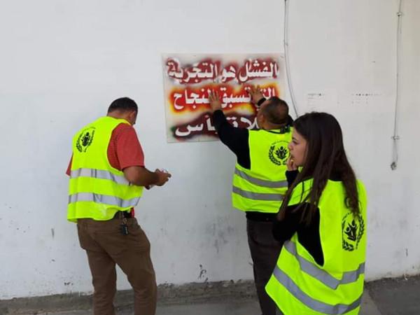 متطوعو ذنابة الخيرية للثقافة ينفذون مبادرة تجميل وتنظيف مدخل مركز تأهيل الشبيبة